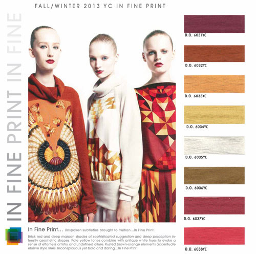 Fall Winter 2013-2014 Fashion Color Trends – Women's Contemporary