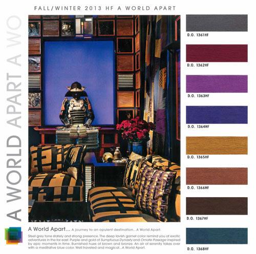 Fall Winter 2013-2014 Color Trends: Interiors