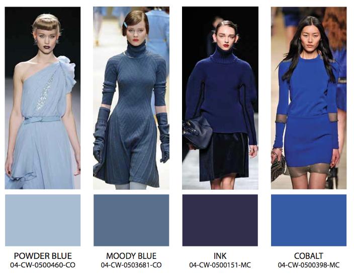 2017 модные цвета синий