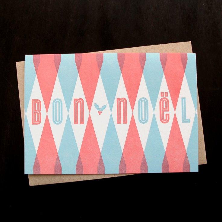 Anemonie Letterpress - Bon Noel, $16/6
