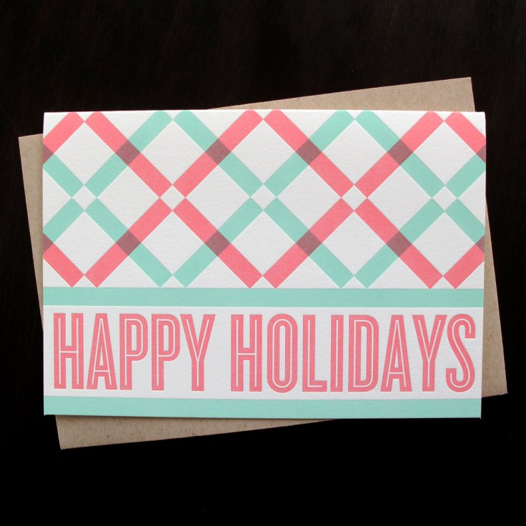 Anemonie Letterpress - Happy Holidays. $16/6