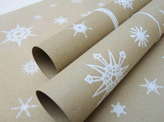 Bombina Studios - Handprinted Snowflakes, €14 / 5 sheets