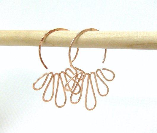 Deanne Watson Jewelry - Copper Jellyfish Earrings, $14.95