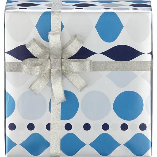 Sullivan Paper Co - Blue & Silver, $5.57 / roll (sale)