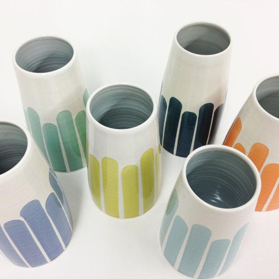 Dahlhouse Striped Vase, $89