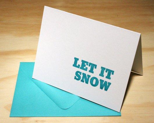 Green Bird Press - Let it Snow, $19/6