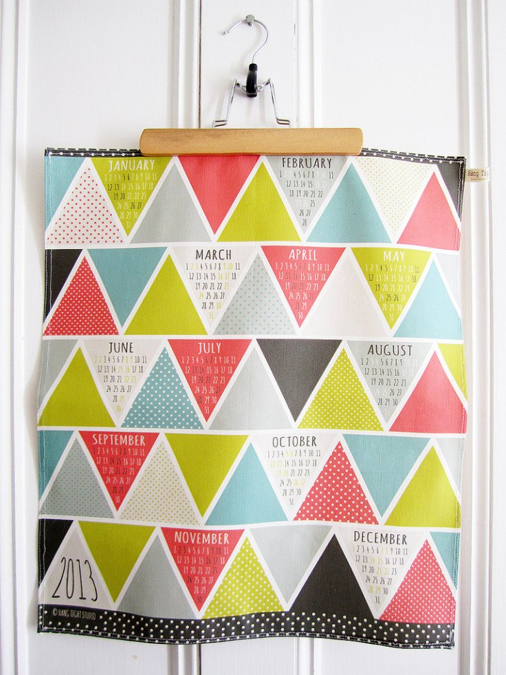 Hang Tight Studio Tea Towel Calendar, $18