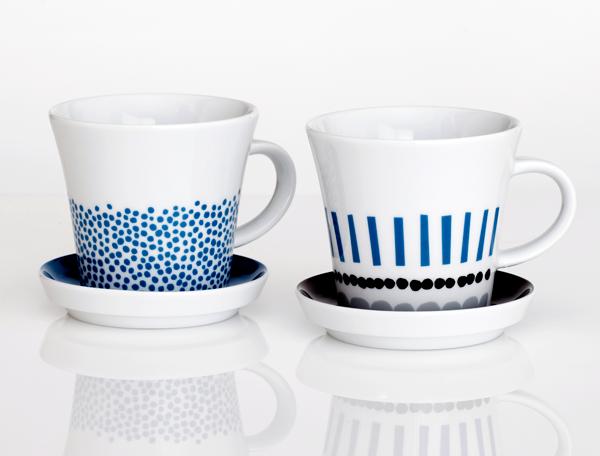 Mug with saucer, $25 each