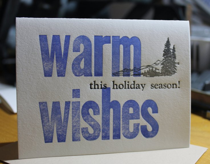 HYC Creative Letterpress - Warm Wishes, $4.50 each