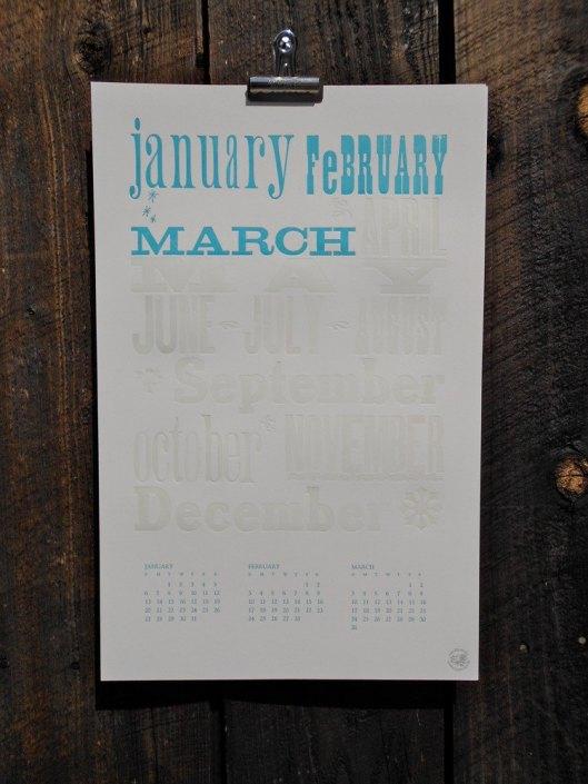 May Day Studio Letterpress Calendar, $30