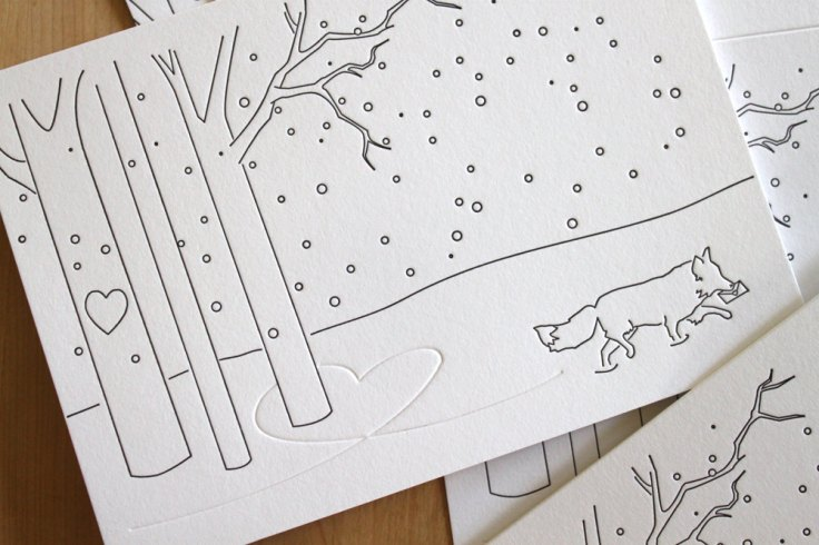 Moon Tree Press - Fox in Snow, $16/8