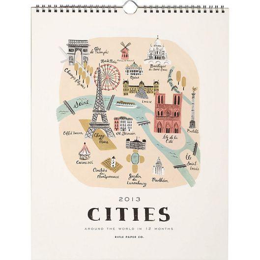 Rifle Paper - Cities Calendar, $27.95