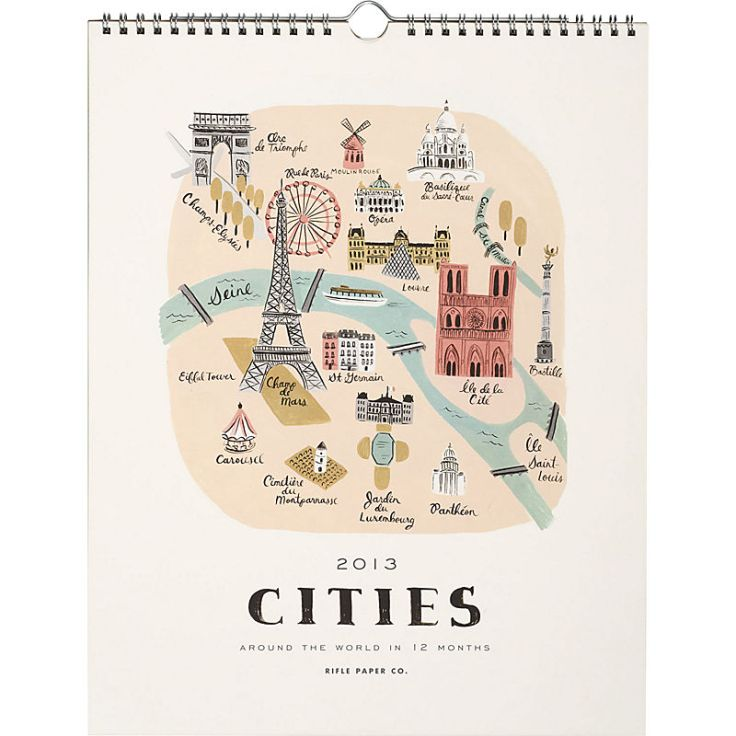 Rifle Paper - Cities Calendar, $27.95