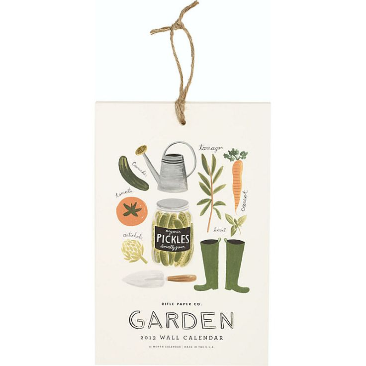 Rifle Paper - Small Garden Calendar, $16.95