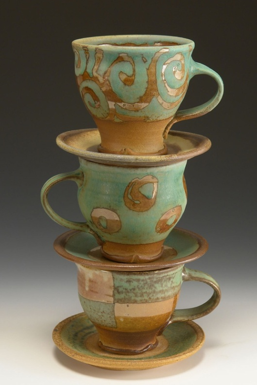 Sara Dudgeon Pottery Cups, prices vary