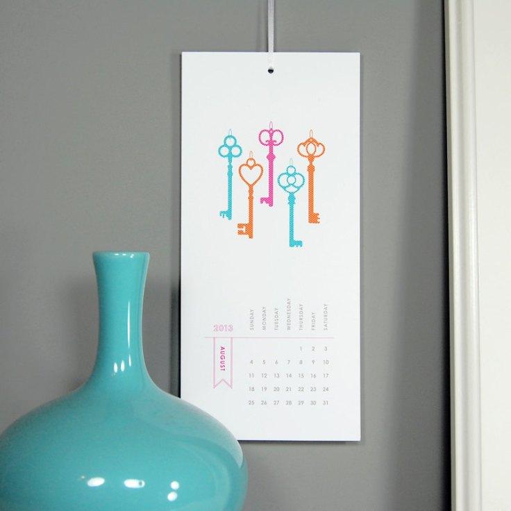 Silhouette Blue Wall Calendar, $18