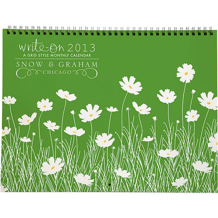 Snow and Graham - Grid Calendar, $27.95