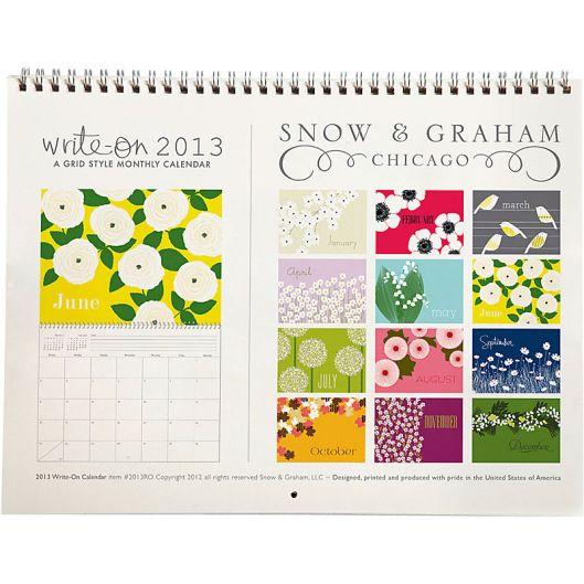 Snow and Graham Grid Calendar (detail)