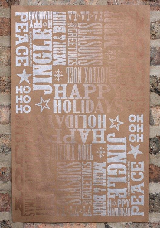Star Shaped Press - Letterpress Type, $10 / 3 sheets