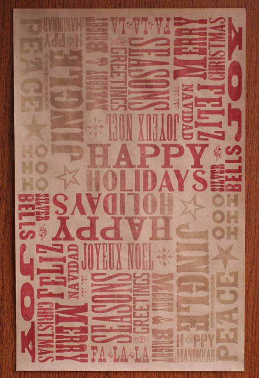 Star Shaped Press - Letterpress Type in Red, $10 / 3 sheets
