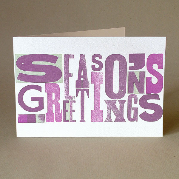 Typoretum - Seasons Greetings Woodblock Type, £3.50