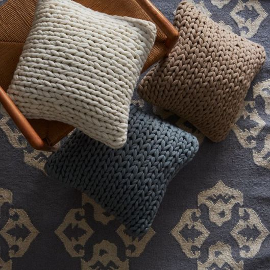 West Elm Sweater Knit Pillow Covers, $39