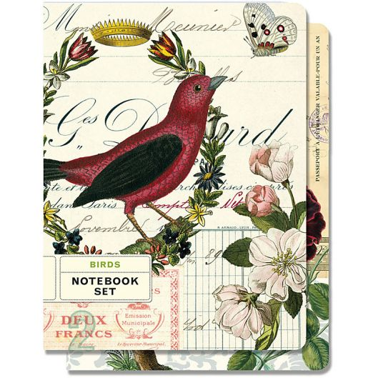 Cavallini Set of 2 Bird Journals, $13.95