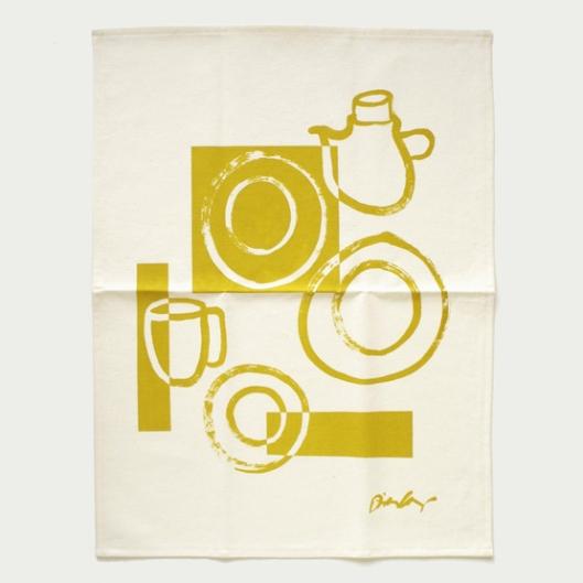 Dinah Coops - Organic Hemp Tea Towel in Mustard