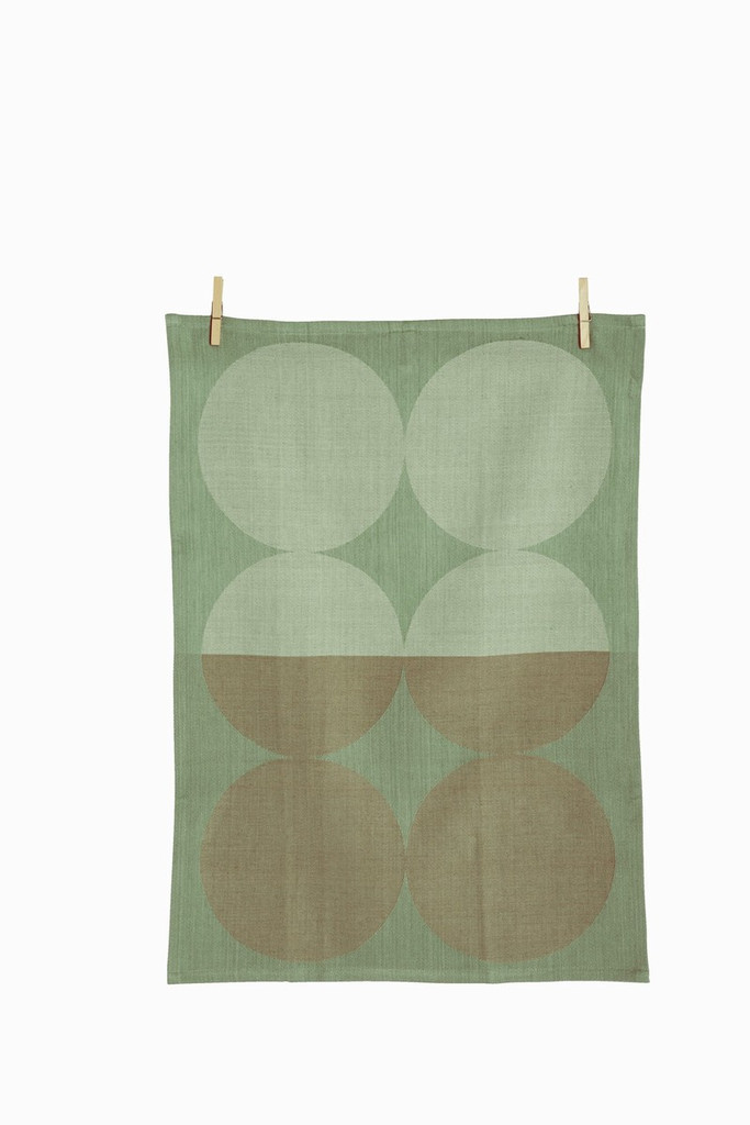 Ferm Living - Moon in Mint Tea Towel, $17.95