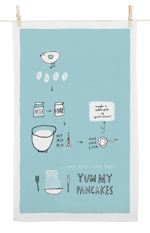 Fréya Eté - Yummy Pancakes Cotton Tea Towel. $16.50