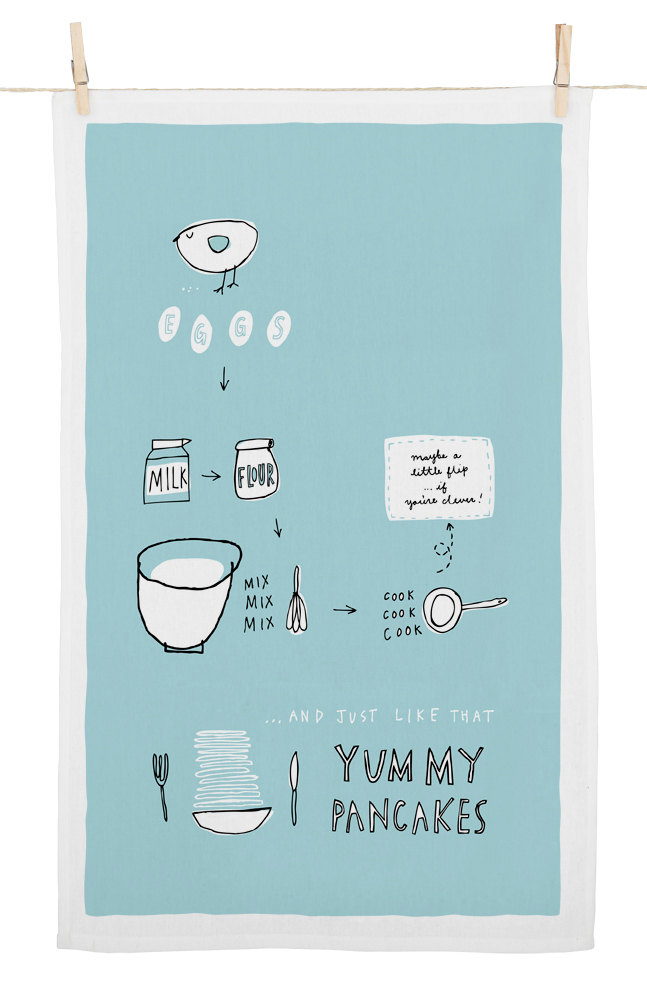 Fréya Eté - Yummy Pancakes Cotton Tea Towel. $16.50