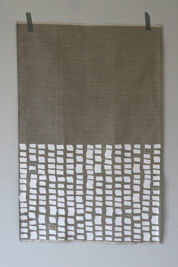 Good Design Studio - Silkscreened Linen Tea Towel
