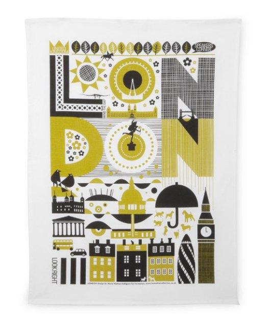 Liberty of London - London Tea Towel, £14