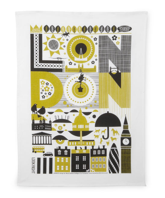 Liberty of London - London Tea Towel, £14