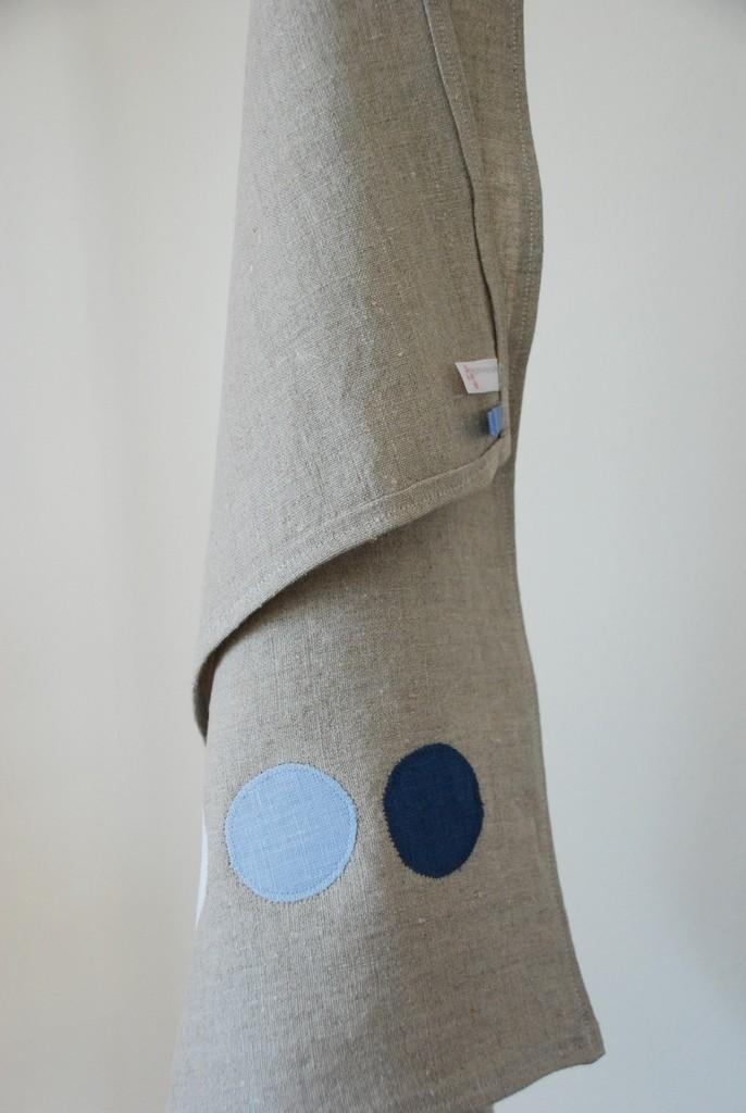 Manus Made - Linen appliqué modern polka dots, $22