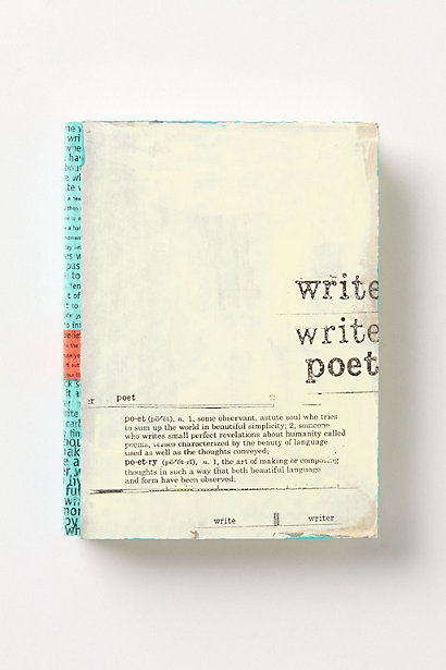Anthropologie Poet Journal, $14.95