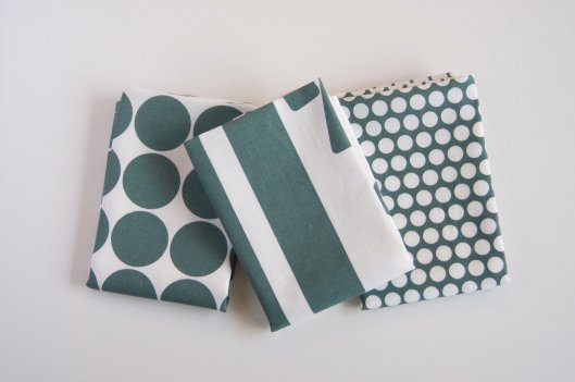 Printing Grounds - Hand Printed Tea Towels, set of 3, $45
