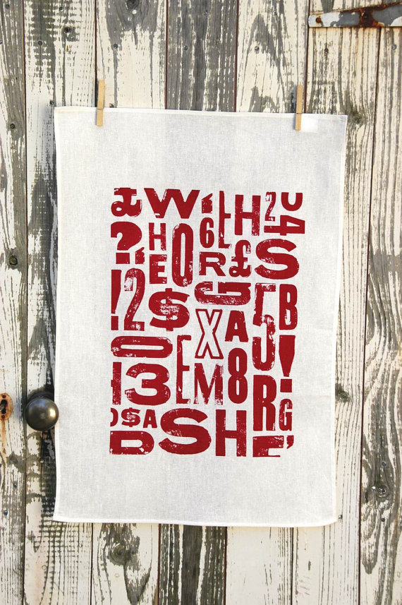 Print Shack - Typography Tea Towel, $17.95