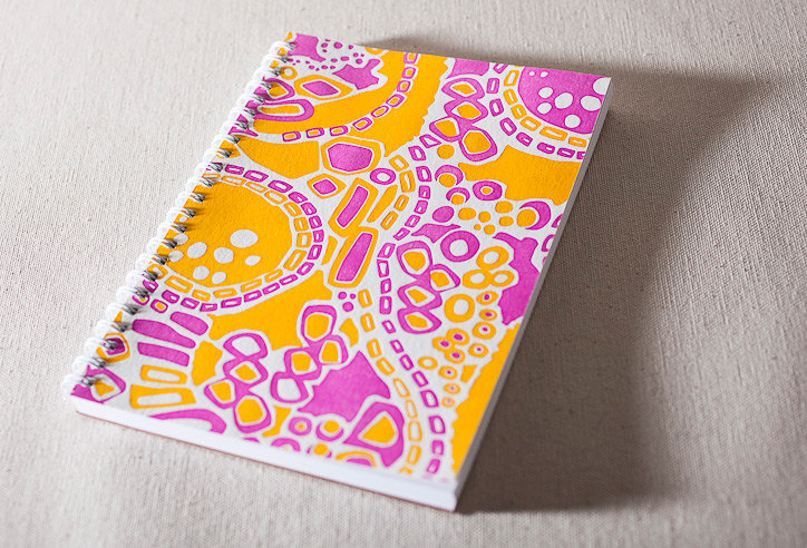 Smock Paper Letterpress Spiral Bound Journal, $11