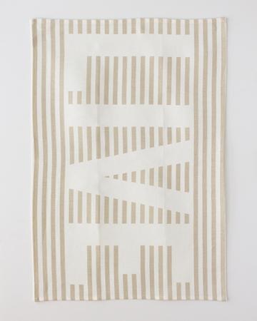 """StudioPatro - Linen """"Live"""" Tea Towel, $24"""