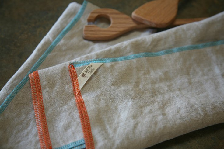 Tall Pine Studio - Edged Linen Tea Towels, set of 2, $19