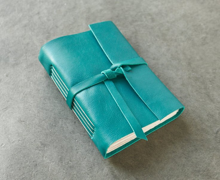 Badger and Chirp Handbound Leather Journal, $26.50