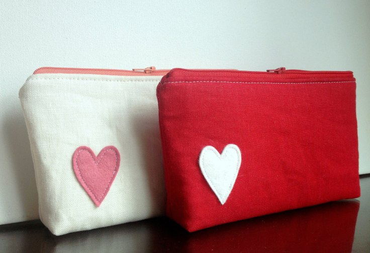Sandra Smith Handmade - Linen Zipper Pouch, $32