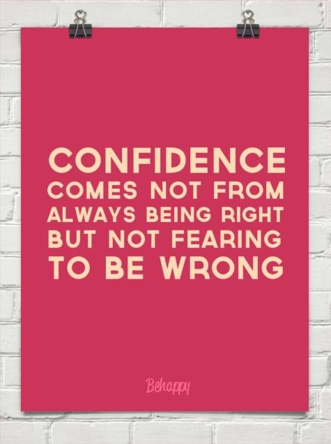 Confidence Comes