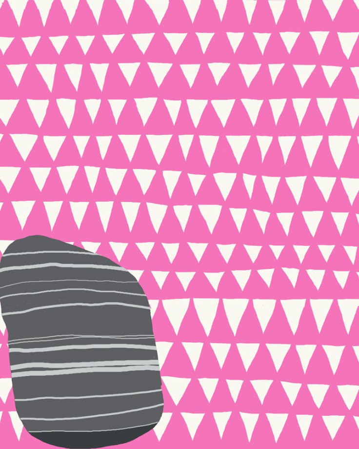 JH Striped Rock Pink Triangles