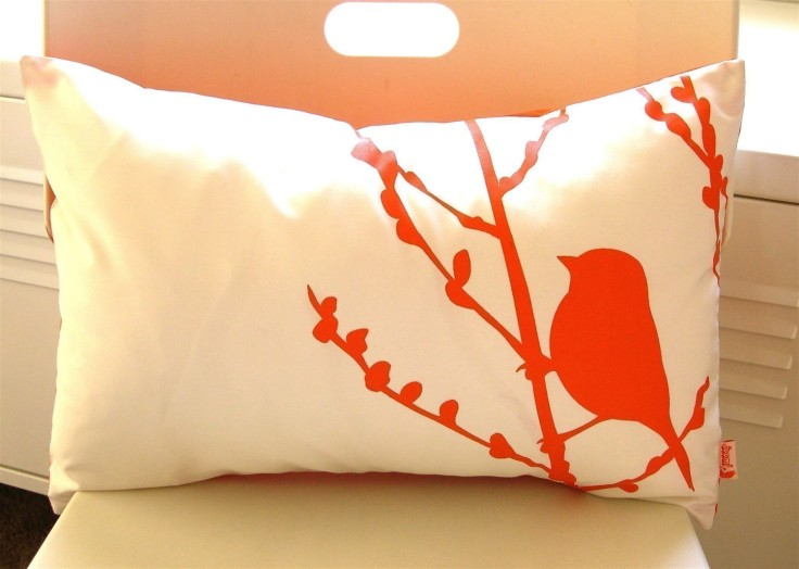 Orange Bird Pillow, $28