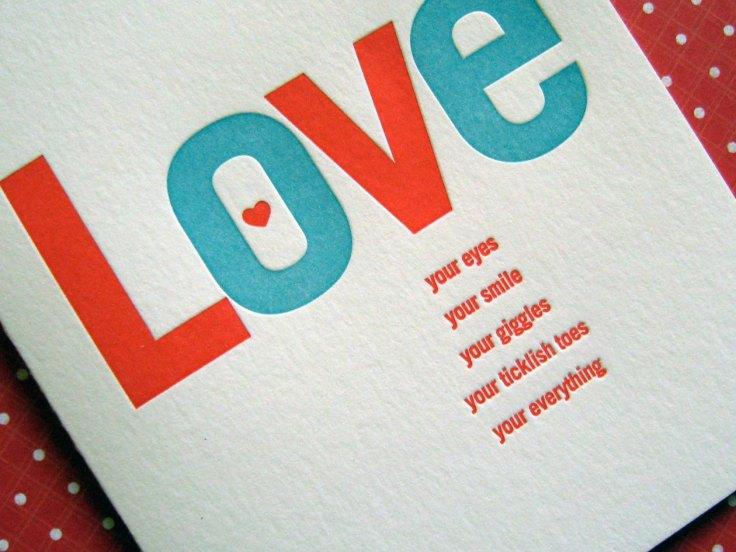 Lucky Bee Press - Love, $4.50