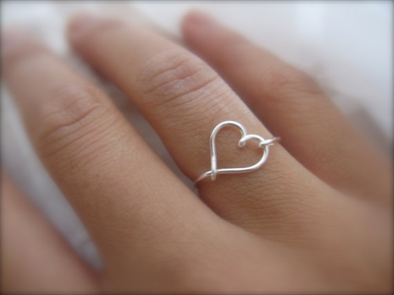 Lei Lei - Silver Heart Ring, $10