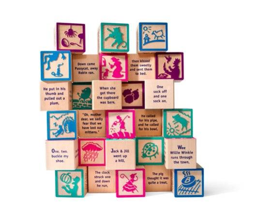 Nursery Rhyme 28-block set, $39