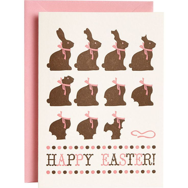 Paper Source - Chocolate Bunny, $4.50